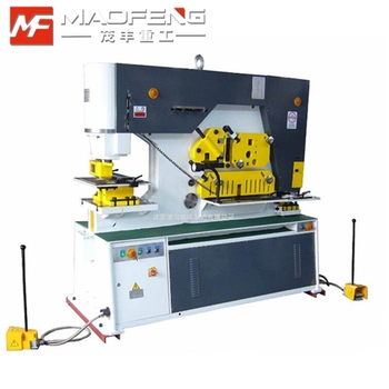 hydraulic punching and shearing ironworker machine