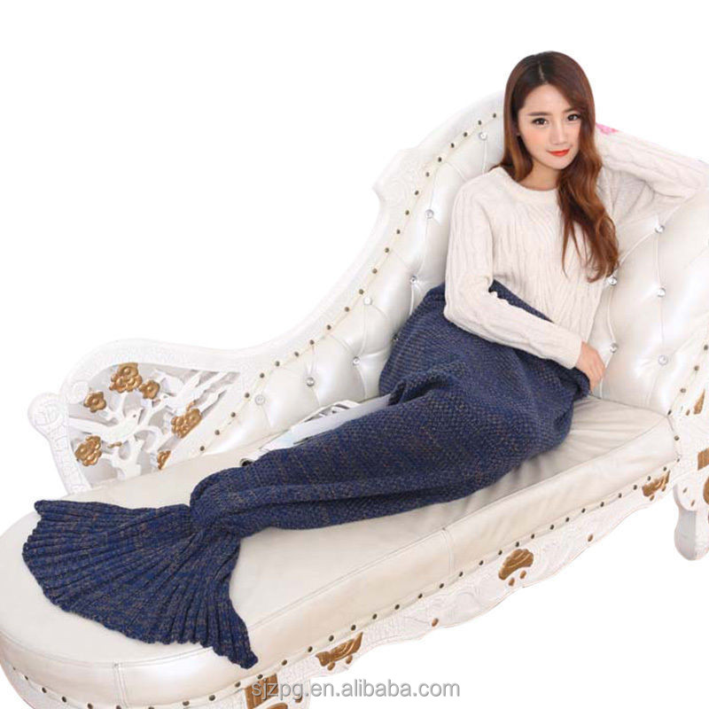 2016 new styles indigo beautiful mermaid tail blanket for adults