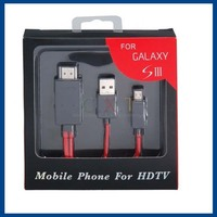 Micro USB to HDTV Cable for Samsung Galaxy SIII/ S9300 (Black)