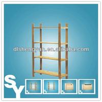 China Wholesale Wood Effect CD Stroage Shelf for Supermarket