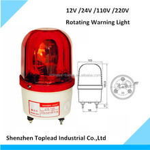 Alarm System Revolving Warning Rotating Beacon Lights Emergency Red Warning Light With Buzzer