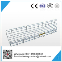 Hot dip Galvanized steel and stainless steel Wire Mesh Cable Tray