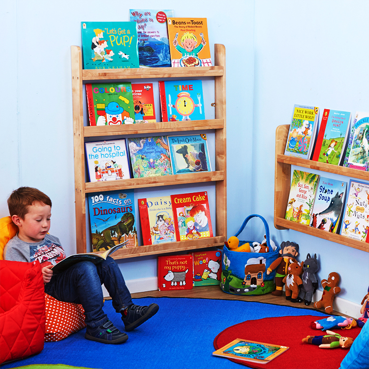 Good Quality Preschool Kid Bookshelf Floating Wall Shelf With EN 71