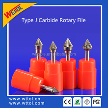 J type conical tungsten carbide rotary burrs