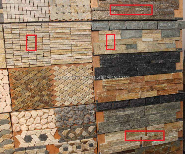 new cheap Natural Wall Cladding Rustic Color Slates Culture Stone