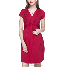 Fashion maternity clothes wrap dress office dress for pregnant women
