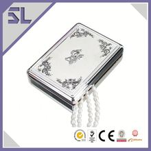 Personalised Jewelry Box With Flower Pattern Silver Keepsake Box Handicraft