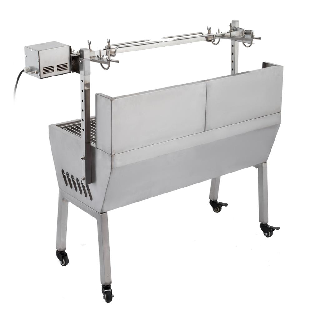 Bearing Lamb Spit Roaster With Electric <strong>Motor</strong> Grill Rotisserie Spit