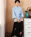 Chinese traditional restaurant waitress uniform top + trousers