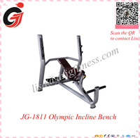 hot selling commercial gym equipment/bodybuilding fitness equipment/JG-1811 Olympic Incline Bench