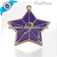 Purple Enamel Star Jewelry Pendant,Charms