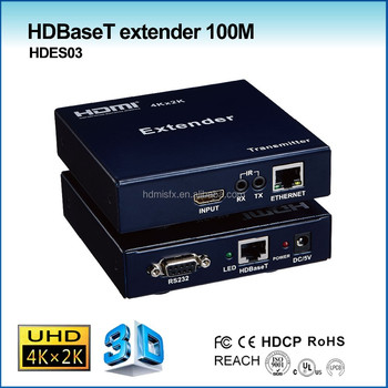 4K powerline hdmi extender with HDBaseT extension 100m