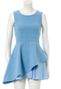 2015 new fashion birthday dresses for girls blue dress women pleated skirt
