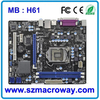 Intel H61 lga 1155 Mini ITX Industrial Motherboard Fanless Motherboard
