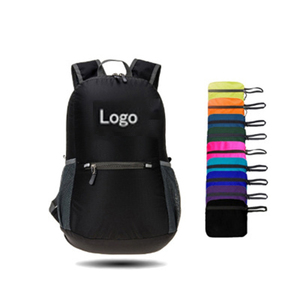 Customized LOGO ultralight waterproof nylon sports outdoor bag portable folding backpack