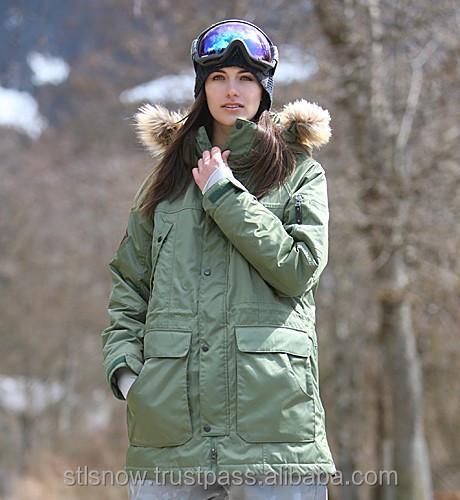 2014/2015 Best Quality unisex snowboard jacket, STL techno jacket Army
