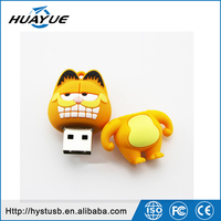 2016 Top sell Factory price cat usb flash memory drive Garfield usb stick cartoon character usb flash drive