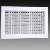 wall mounted aluminum double deflection air conditioner supply exhaust air grille with damper