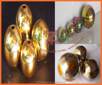 stainless steel golden ball with hole