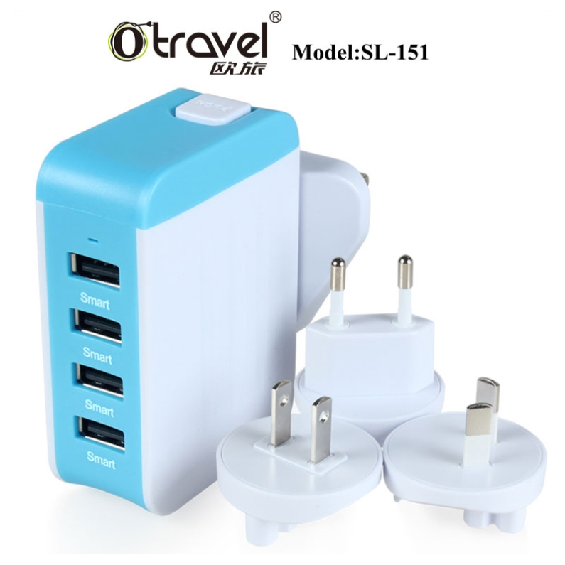 2017 Shenzhen Otravel multiple usb wall charger OEM factory 220v to usb <strong>adapter</strong>