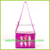 Disposable insulated effect non woven cloth cooler tote bag for frozen food