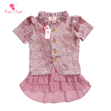 Wholesale Ruffle Blouse Latest Design Baby Girls Tops