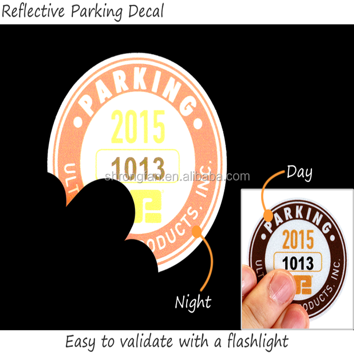 custom decoration self adhesive die cut reflective logo cosmetic sticker
