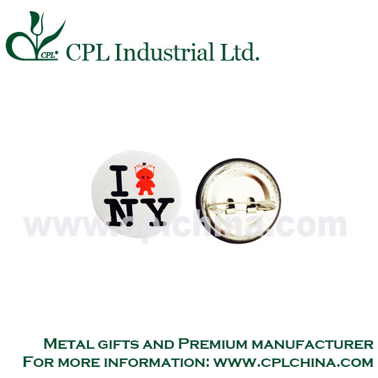 Free design. quality standard metal button badge