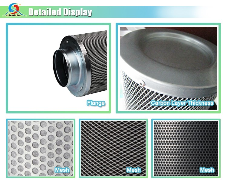 carbon air filter/activated carbon filter/hydroponic odor control carbon filter for grow room inline fan