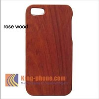 Hot sale! wooden cell phone case for iphone 5, Red Rosewood Wooden Case