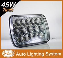 PD7SL 45W high/low beam rectangular headlight 5x7 with voltage 10-30V 7 inch headlight sealed beam h4 led head light
