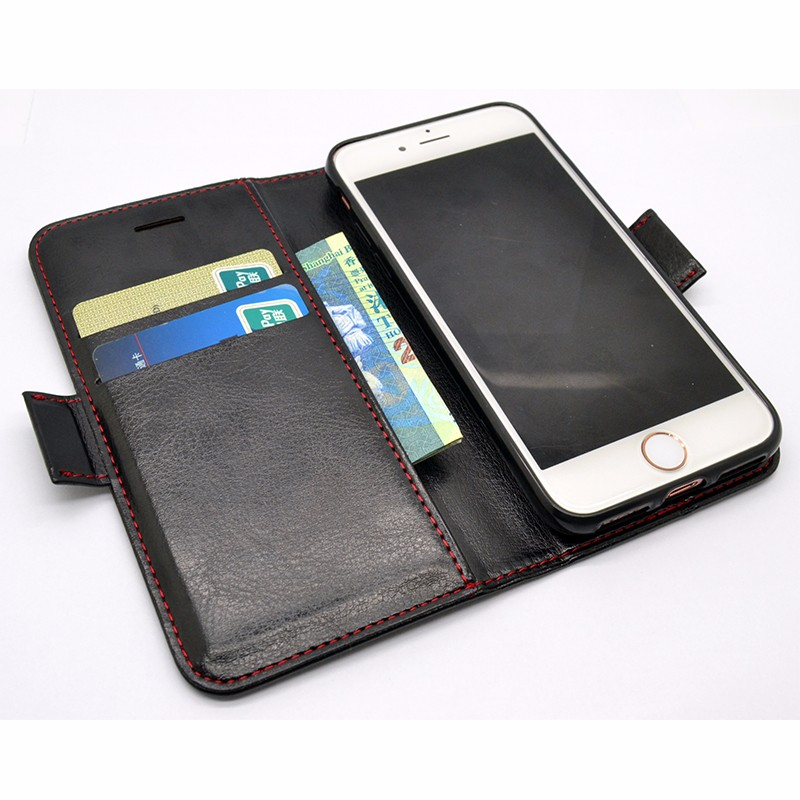 For iphone 7 case Brand new genuine leather wallet case For iphone 7