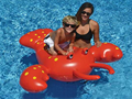 Water Play Summer Water Fun EN71 SGS Giant Swimming Pool Float Red Rock Lobster Inflatable Air Beach Mat