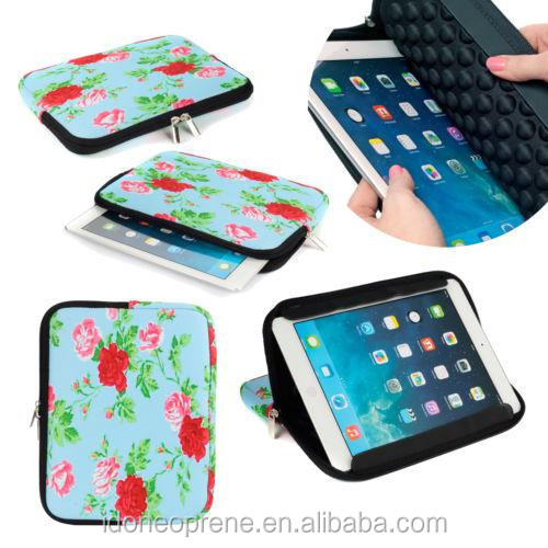 Stand function Tablet Neoprene sleeve / table bag