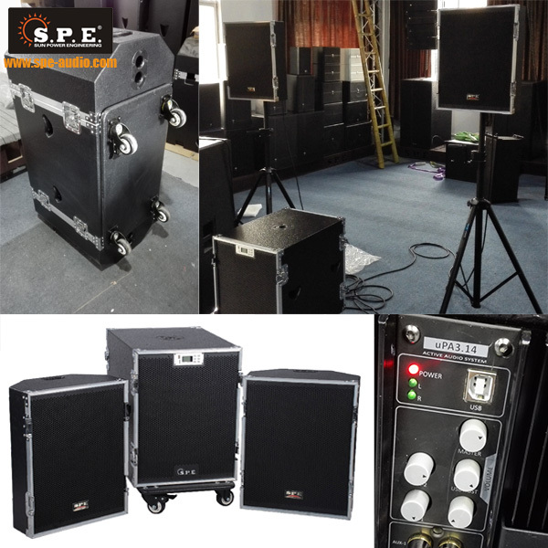 active PA sound system big power sound system indoor and outdoor loud speakers system