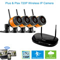 HD720P Plug and Play Mobile View Wireless 4 Cameras security camera system