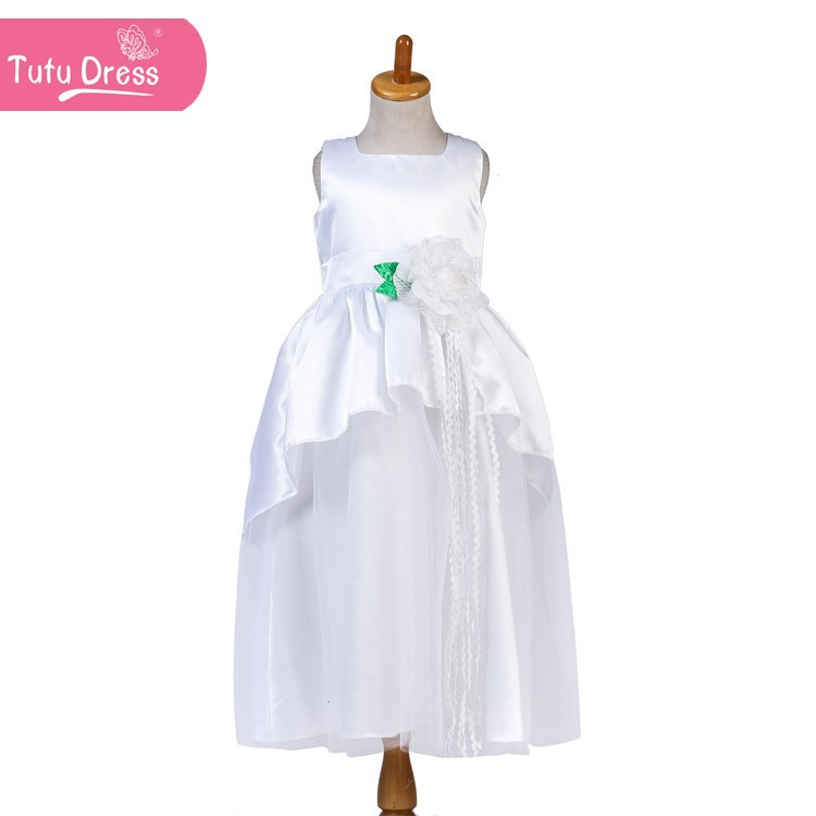 New Fashion Elegant Wedding Party Flower Girl Dresses Princess Kid Dresses Gowns