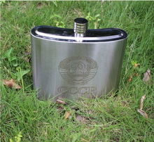 stainless steel hip falsk with 8oz Printing Hip Flask/Wine Pot with logo for wholesale