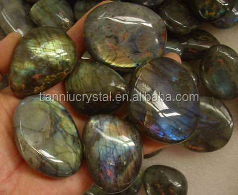 10 Pieces Natural Rainbow Labradorite <strong>Crystal</strong> Tumbled Gem Stone Healing