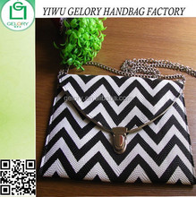 Fashion ladies women ZIGZAG PU Clutch bag sling bag for promotional