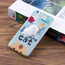 Cute 3D cat squishy case phone cover soft squishy phone case for iPhone 6 / 7