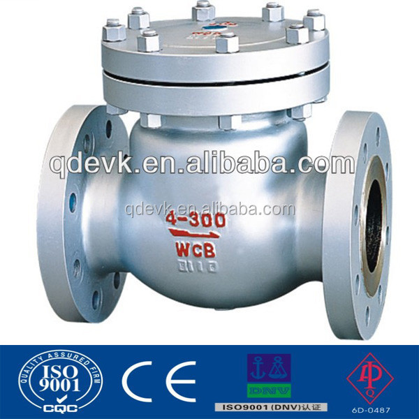 150LB 300LB 600LB Carbon Steel Flanged Swing Check Valve