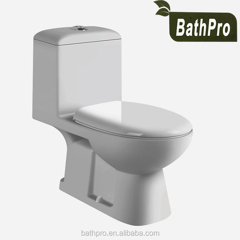 Floor mounted dual flush type P-trap S-trap ceramic one-piece washdown toilet