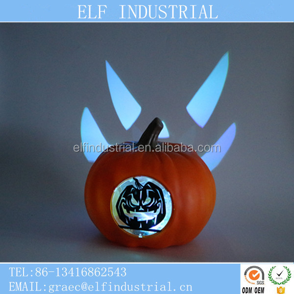 Best selling items new born 1 dollar gift set led electronic pumpkin for halloween crafts