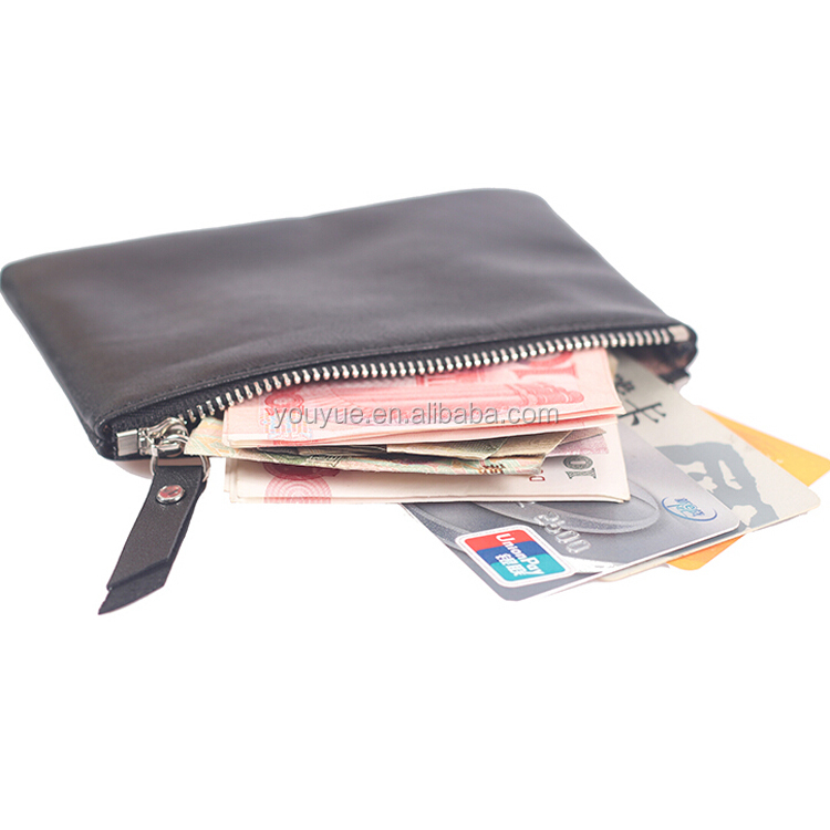 Wholesale Custom Handmade Mini Small Cheap Leather Coin Purse With Zipper