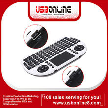 Handheld Mini 2.4GHz Wireless Keyboard and mouse combo with Touchpad for PC TV Box / Set top box HTPC PS3