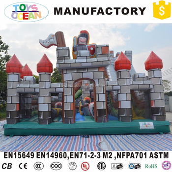New outdoor inflatable bouncer house combo with slide jumping castle