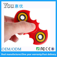 Huiyou in stock colorful bat addictive fidget spinners coupon code attached