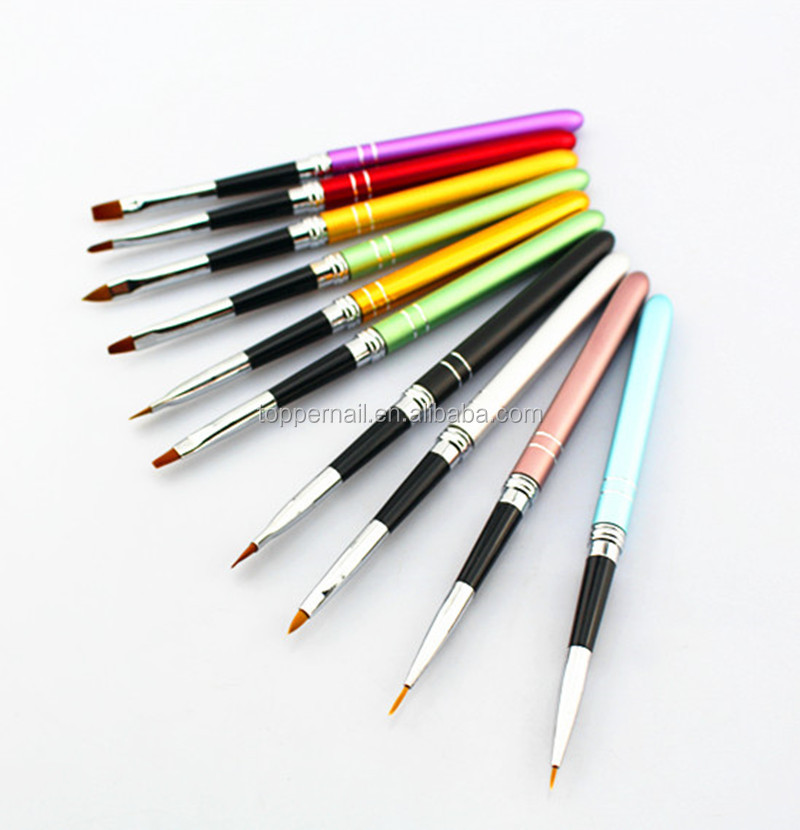 wholesale good discount price acrylic 3D nail art brush for professional nail art