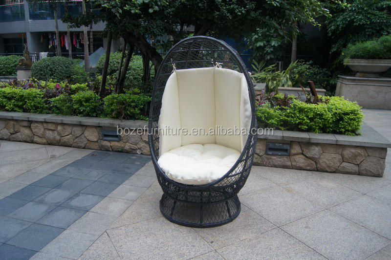 Safety outdoor garden sofa, wicker French swing, rattan basket chair